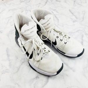 Nike|Prime Hype DF Basketball Shoes White/Black